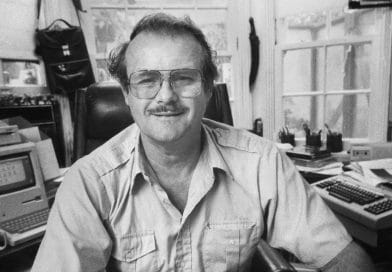 Jerry Pournelle em 1985. Foto: George Brich.